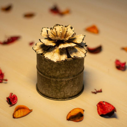 Scented Floral Candle- Small