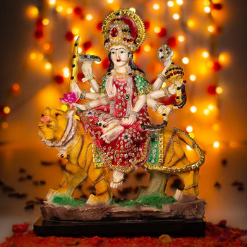 Decorative Colorful Goddess Maa Durga Murti