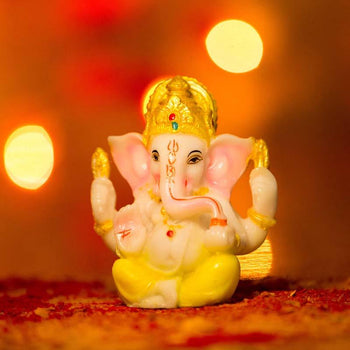 Marble Lord Ganesha Figurine for Home Décor