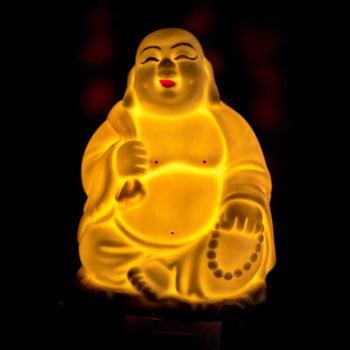 Decorative Laughing Buddha Electric Aroma Diffuser Oil Burner