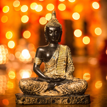 Handcrafted Meditating Sitting Buddha Idol for Living Room