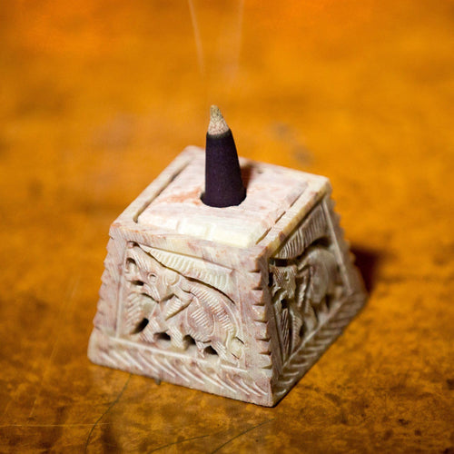 Elegant Multipurpose Marble Incense Stick Holder in Trapezium Shape