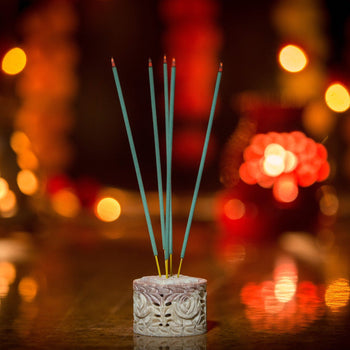 Nifty Multipurpose Rose Marble Incense Stick Holder