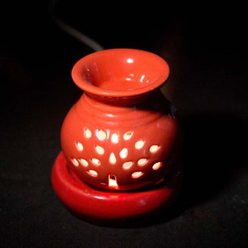 Radiant Red Ceramic Pot Aroma Diffuser