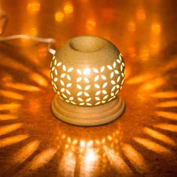 Eye-catching Brown Ceramic Round Aroma Diffuser