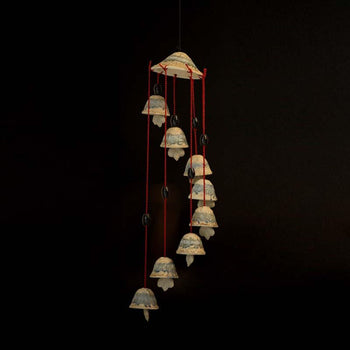 Unique Shaded Ceramic Wind Chime