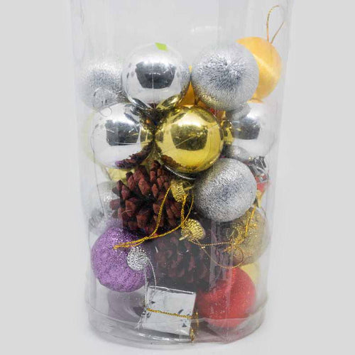 Multicolored Christmas Tree Balls Baubles