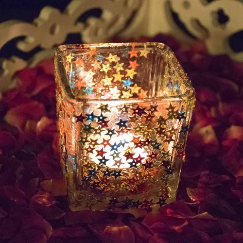 Dazzling Starry Glass Candle | Tealight Holder