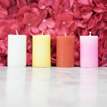 Colorful Pillar Candle (Set of 4)