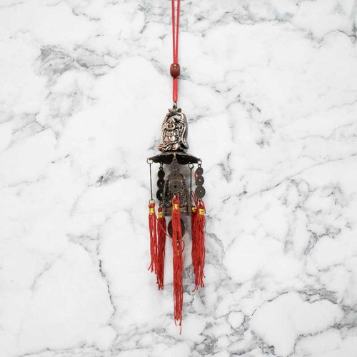 Feng Shui Traditional Dragon Bell Coins Laughing Buddha Wind Chime