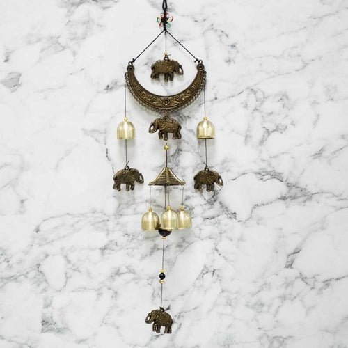 Feng Shui Elephant Metal Bells Wind Chime for Good Luck