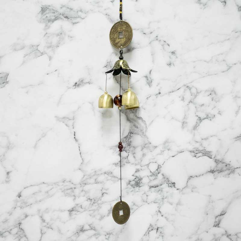 Feng Shui Golden Coin Bell Flower Wind Chime