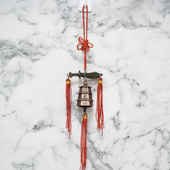 Feng Shui Traditional Bell Shaolin Sword Wind Chime for Good Luck