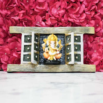 Divine Lord Ganesh Handcrafted Wooden Wall Hanging