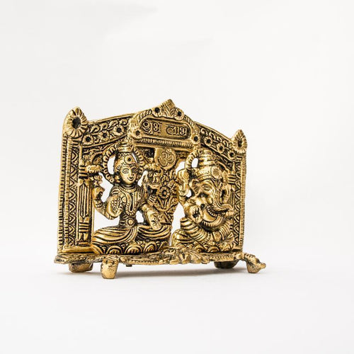 Antique Gold Laxmi Ganesh Showpiece for Decor
