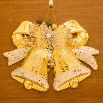 Christmas Bow-knot Double Bell Door/Wall Hanging