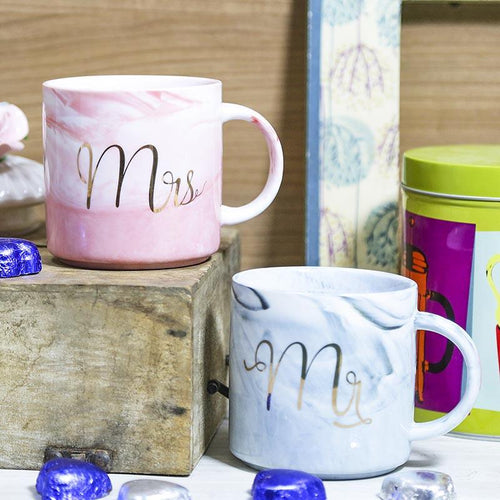 Adorable Mr. & Mrs. Ceramic Mug Set