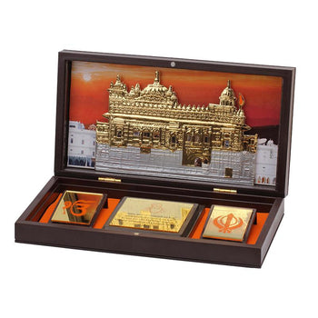 24Kt Gold Foil Gurunanak Pooja Box