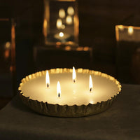 Brass Multi-Wick Candle Urli
