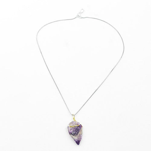 Natural Amethyst Crystal Pendant