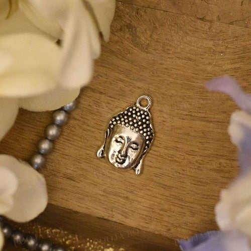 Aesthetic German Silver Buddha Head Pendant