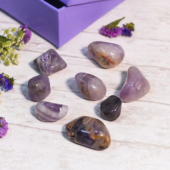Amethyst Crystal Healing Tumble Stone Setstone Of Protection Reiki
