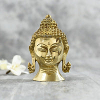 Antique Buddha Head Idols Home Decor