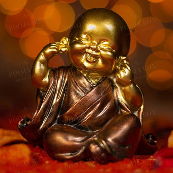 Beautiful Little Monk With Closed Ears Home Decor