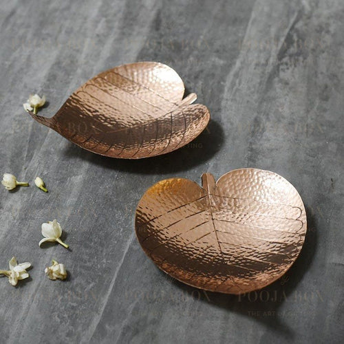Bodhi Prayer Leaf (Set Of 2) Pooja Items