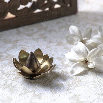 Classic Handmade Lotus Incense Stand Holder