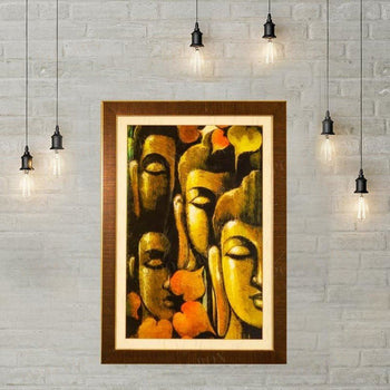 Contemplating Lord Buddha Wall Painting Framed Paintings
