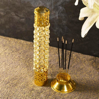 Crystal 3D Incense Holder