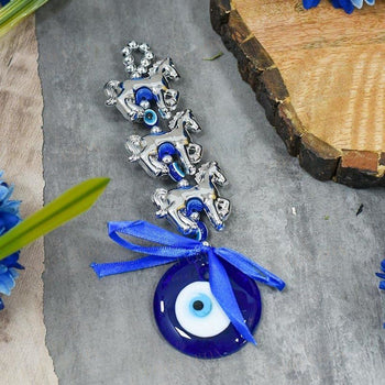 Evil Eye Horse Wall Hanging Protection Amulet Feng Shui