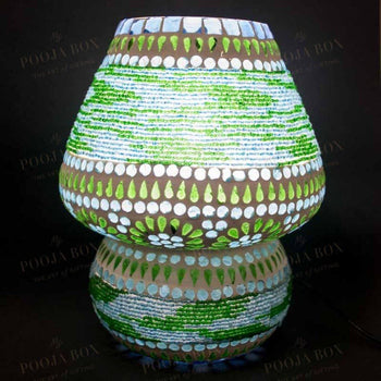 Exotic Beaded Mosaic Table Lamp Home Decor