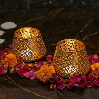 Exquisite Noor Tealight Holder (Set Of 2) Limited Edition