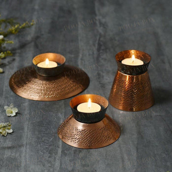 Exquisite Teal Appeal Medium Candle Holder
