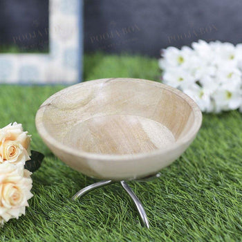 Exquisite Wooden Bowl Table Decor Home