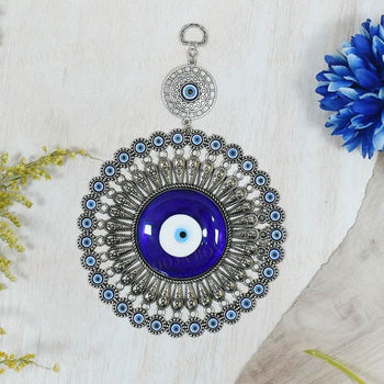Fancy Glass Turkish Evil Eye Wall Hanging Protection Amulet Feng Shui