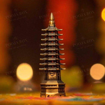Feng Shui Metal Pagoda Tower For Success