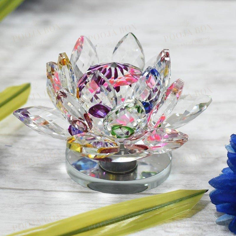 Feng Shui / Vastu Crystal Lotus For Positive Energy Reiki