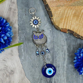 Feng Shui Vastu Evil Eye Owl Hanging For Wall/door/car