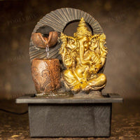 Ganesha With 2 Vessels Fountain