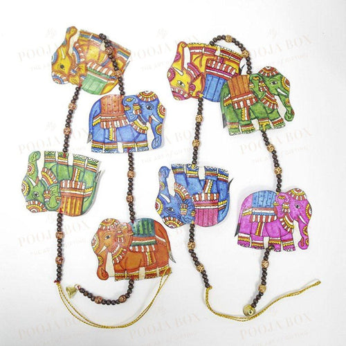 Hand Painted Elephant Wall Hanging Decoration Door