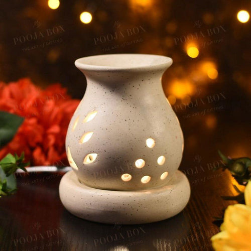 Handcrafted Brown Ceramic Pot Aroma Diffuser Diffusor