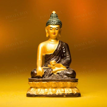 Majestic Black Meditating Buddha Idol Idols