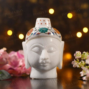 Marble Buddha Head Home Decor