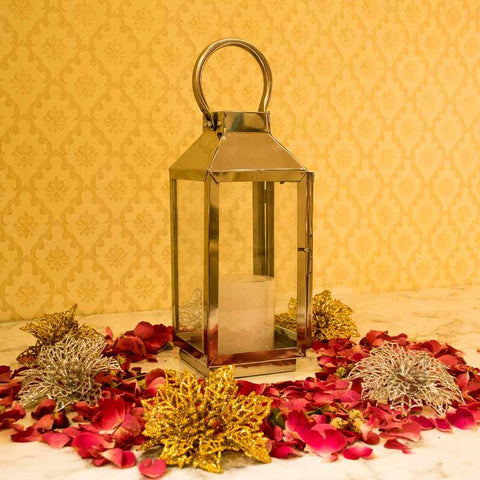 Magnificent Metal Glass Candle Holder Lantern