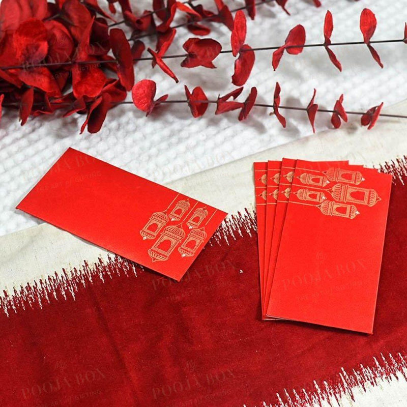 Red Shagun Envelope Set Of 4
