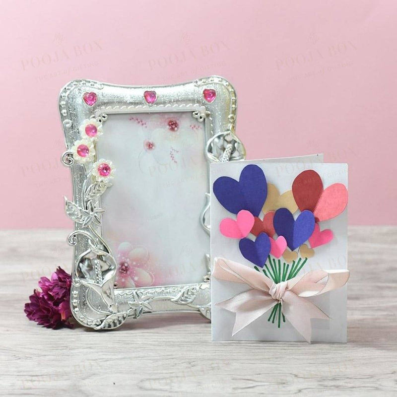 Royal Floral Silver Photo Frame Home Decor