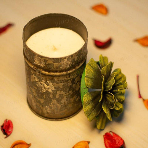 Scented Floral Candle- Large Candle Holder